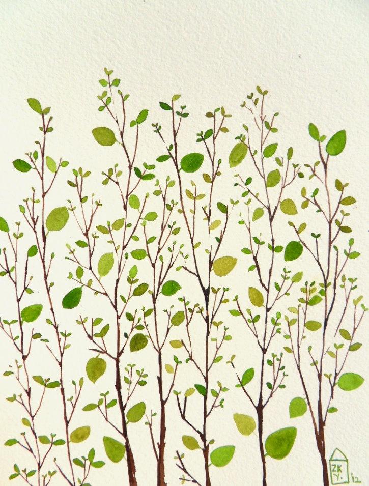 Garden - original watercolor| Zuhal kanar via Etsy.