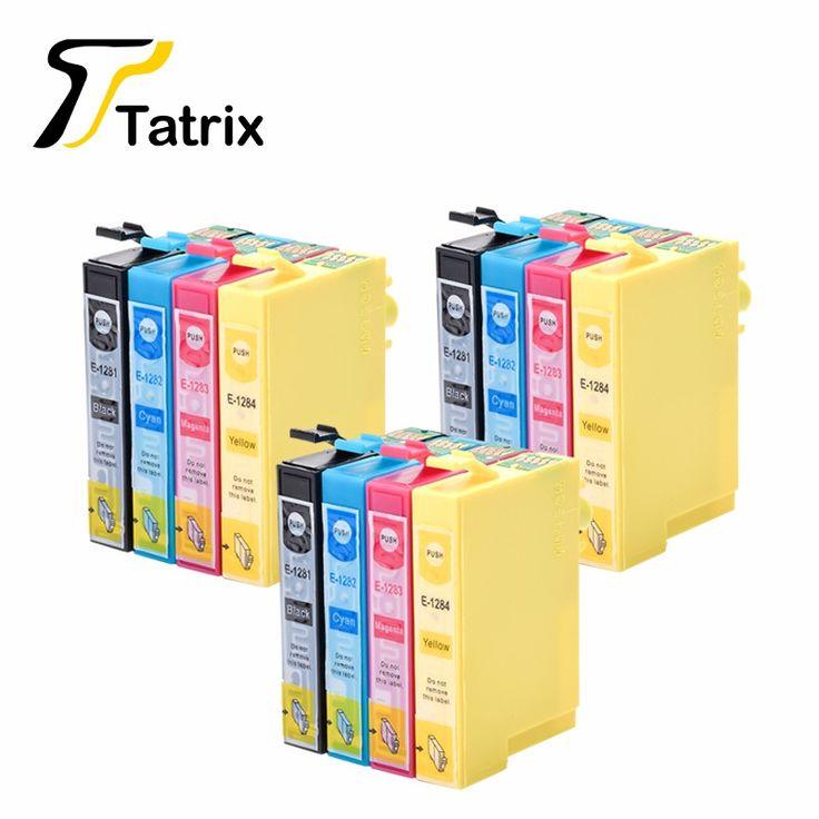 12PCS For Epson T1281 T1282 T1283 T1284 Compatible Ink Cartridge For EPSON S22 SX125 SX130 SX235W SX420W SX440W SX430W Printer