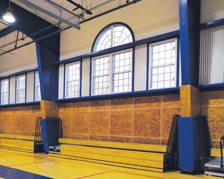 www.kanescreens.com - Kane Screens on Morristown Friends School Gym - Morristown, NJ