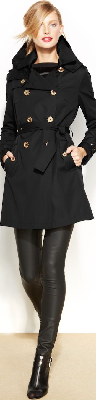 MICHAEL Michael Kors Removable-Liner Trench Coat