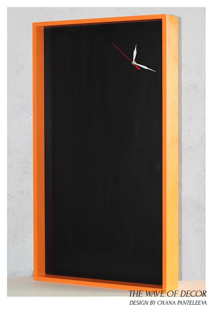 orange chalkboard