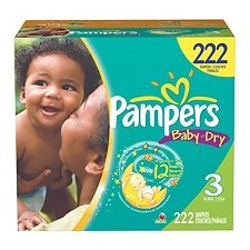 Pampers Baby Dry, Size 3 (16-28 lbs.), 222 ct.