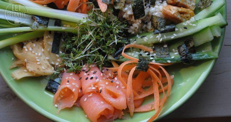 Luie Sushi Salade met Tuinkers - Eetspiratie