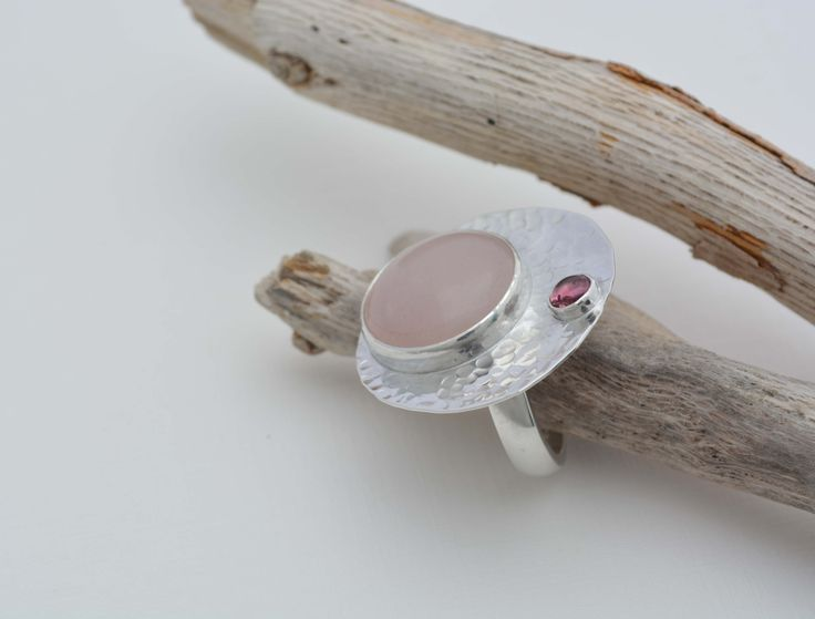 950 silver earrings,with  rose quartz and tourmaline