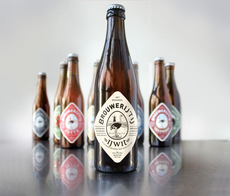 Cool design for a great beer from Amsterdam - The Brouwerij 't IJ via positivitybranding.nl