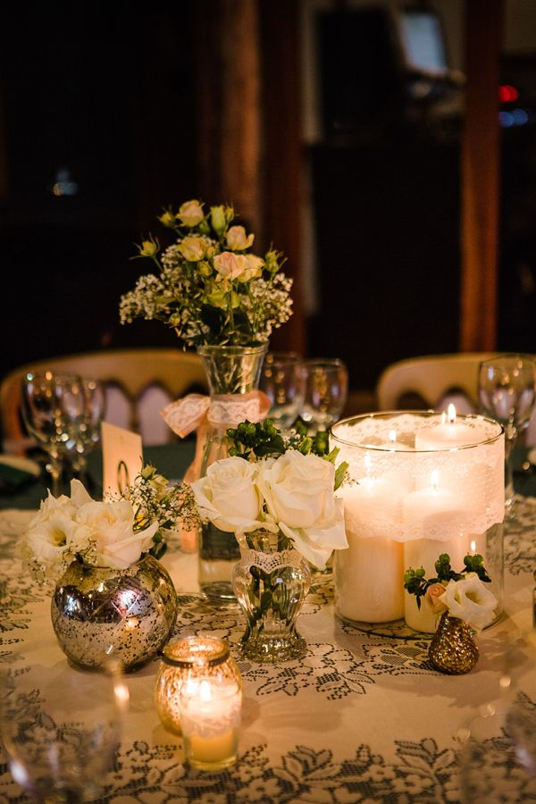 Green Christmas Wedding Candles Flowers http://www.lolarosephotography.com/