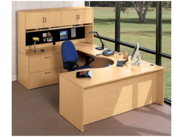 Hyperwork Curved-Corner U-Shaped Office Desk