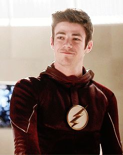 Poor Barry, trying to be supportive even when he wants to cry...<<<plus,iris was wearing red and lukin damn sexy