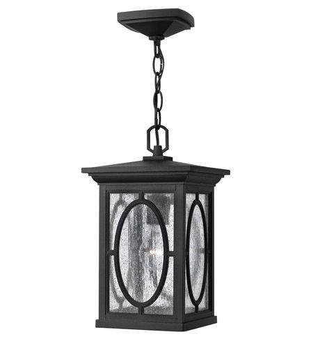 Hinkley 1492BK Randolph 1 Light 8 inch Black Outdoor Hanging Light in Incandescent