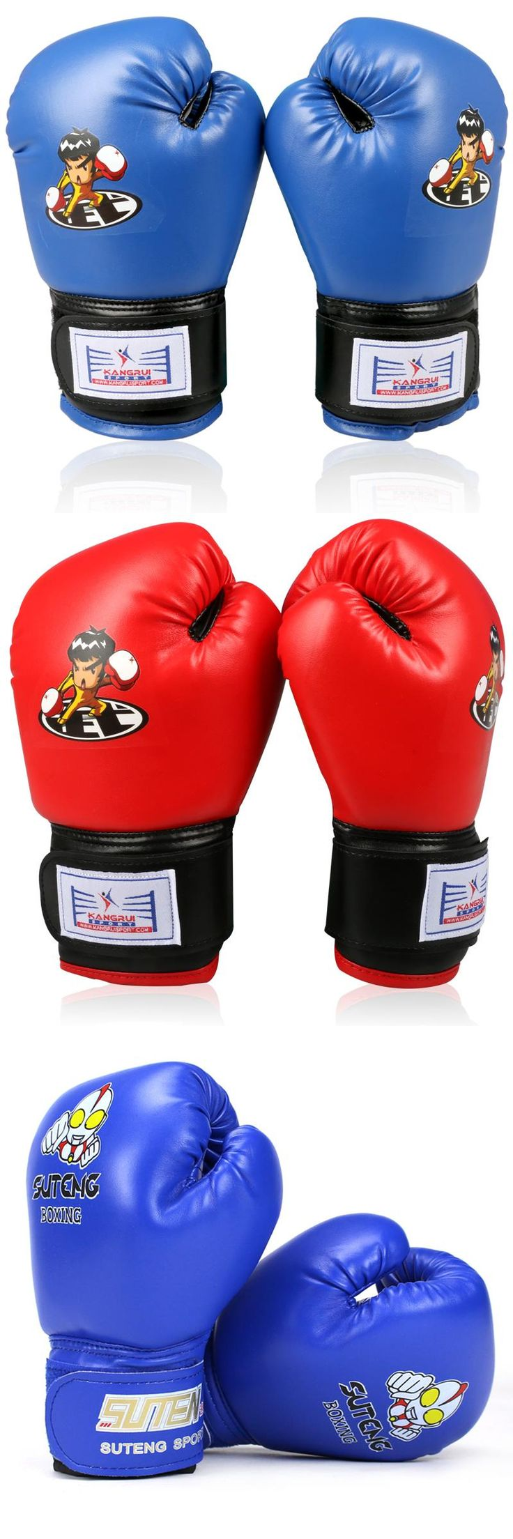 [Visit to Buy] cheap good quality Breathable PU leather 8 oz child babies kids kick fighting boxing gloves muay thai carton funny boxe gloves #Advertisement
