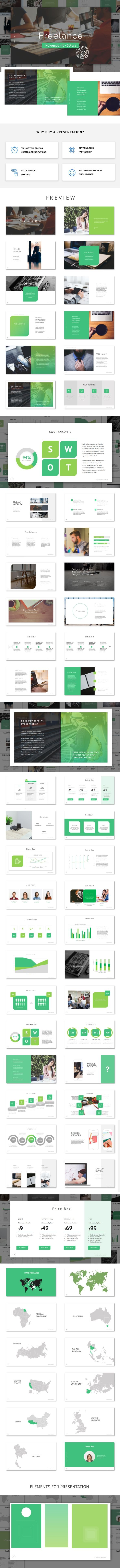 Freelance Powerpoint Template #creative #minimalistic • Download ➝ https://graphicriver.net/item/freelance-powerpoint-template/19542641?ref=pxcr