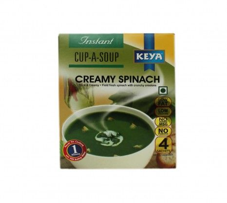 Keya Instant Creamy Spinach Soup 68g at Rs.90 online in India.