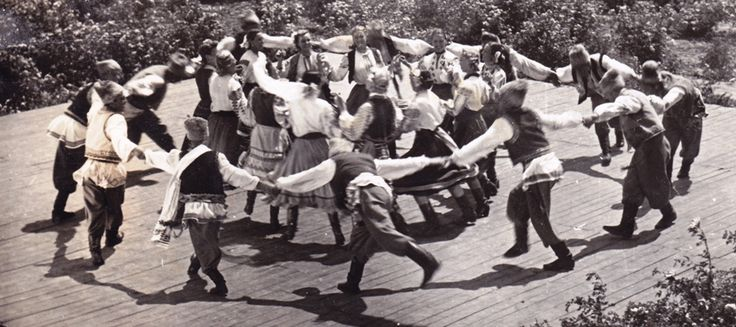 Hora - traditional dance.