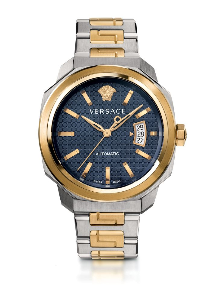 The Versace Dylos Automatic with gold detailing is a distinctive timepiece. More on versace.com