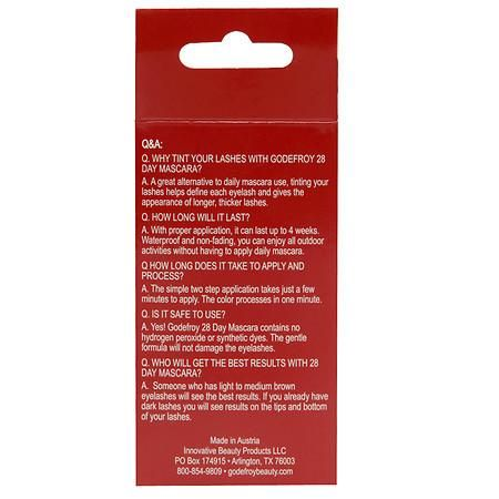 Godefroy 28 Day Mascara Permanent Eyelash Tint Kit, Black