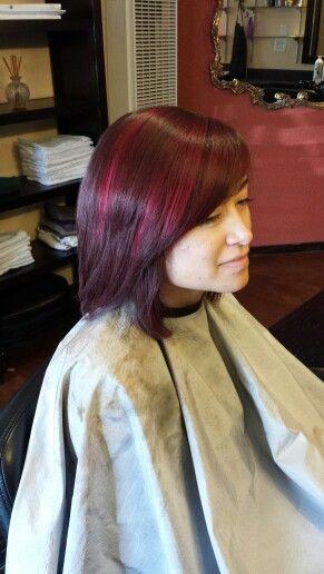 Medium red violet Brown color with intense red violet highlight