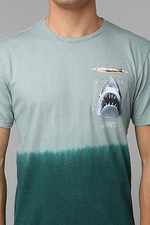A Jaws pocket tee. Bonus: Put an iPod mini in the pocket and play the JAWS theme on repeat. | 31 Must-Have Pieces For Your Shark Week Viewing Party