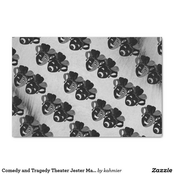 Comedy and Tragedy Theater Jester Masks Silver Tissue Paper 25% off all