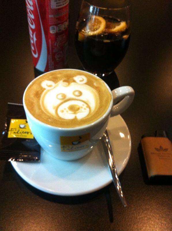 Teddy bear cappuccino