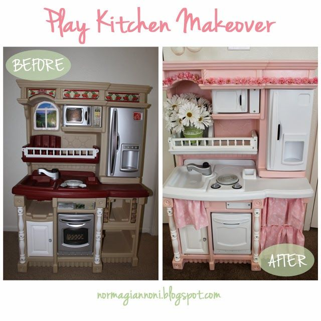 Best Play Kitchen Makeover Images On Pinterest Play Kitchens