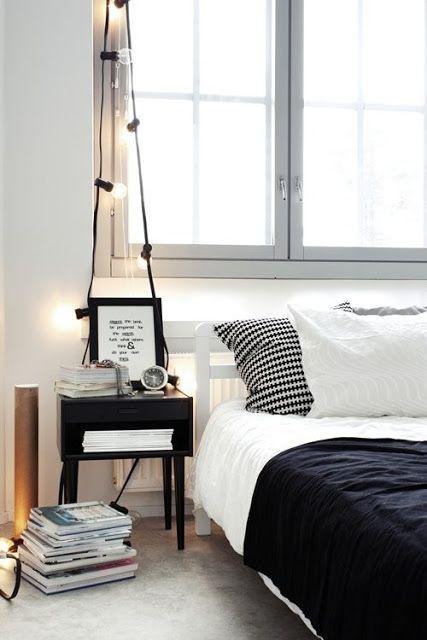 Drape bigger bulbs casually to create an effortless lamp.