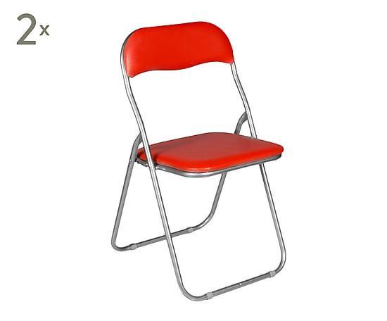 Set de 2 sillas de PVC y metal Bobbie - 46x44 cm