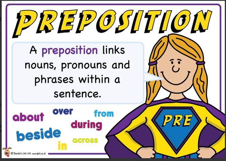 Yr 6 preposition