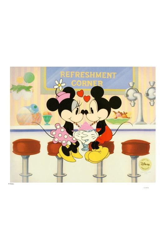 Soda Shop Sweethearts By Disney Sericel