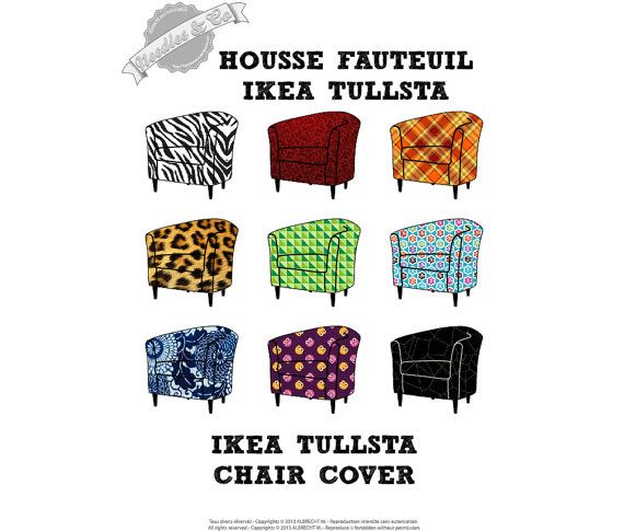 Ikea tullsta chair cover pattern patron housse ikea for Housse divan ikea