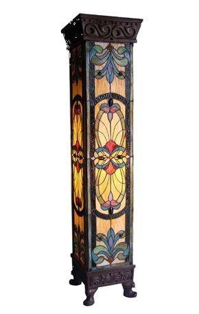Art Nouveau Design Tiffany Style Pedestal Lamp