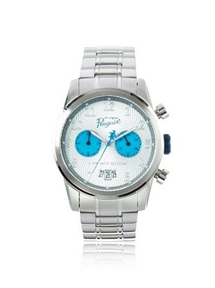 58% OFF Original Penguin Men's OP-3033-BL Mickey Silver Stainless Steel Watch