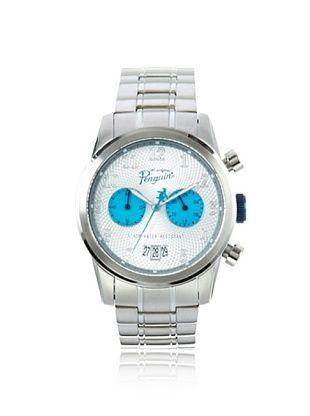 58% OFF Original Penguin Men's OP-3033-BL Mickey Silver Stainless Steel Watch