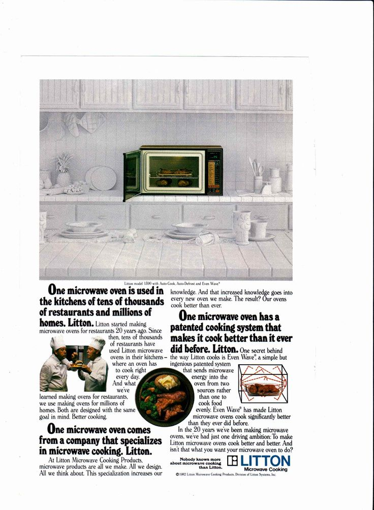 1983 Litton microwave ad National Geographic, February