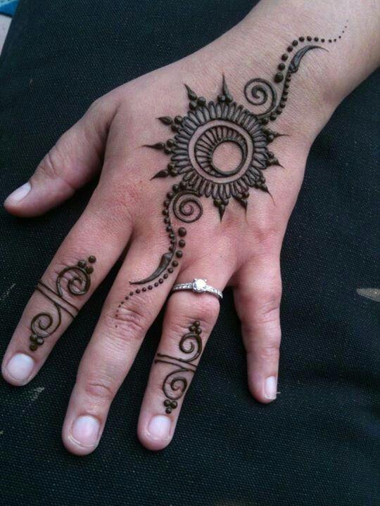 simple, pretty, design, henna, mehendi, art