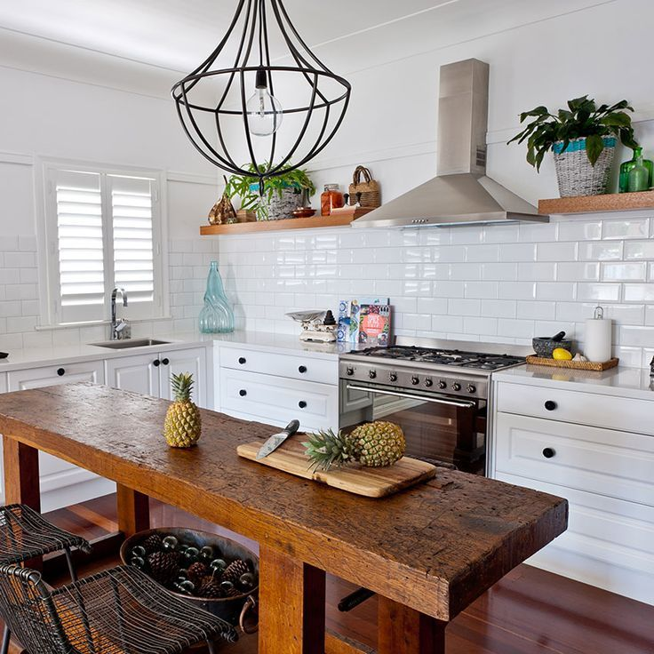 narrow farmhouse table kitchen island | Dining Room Sets ...