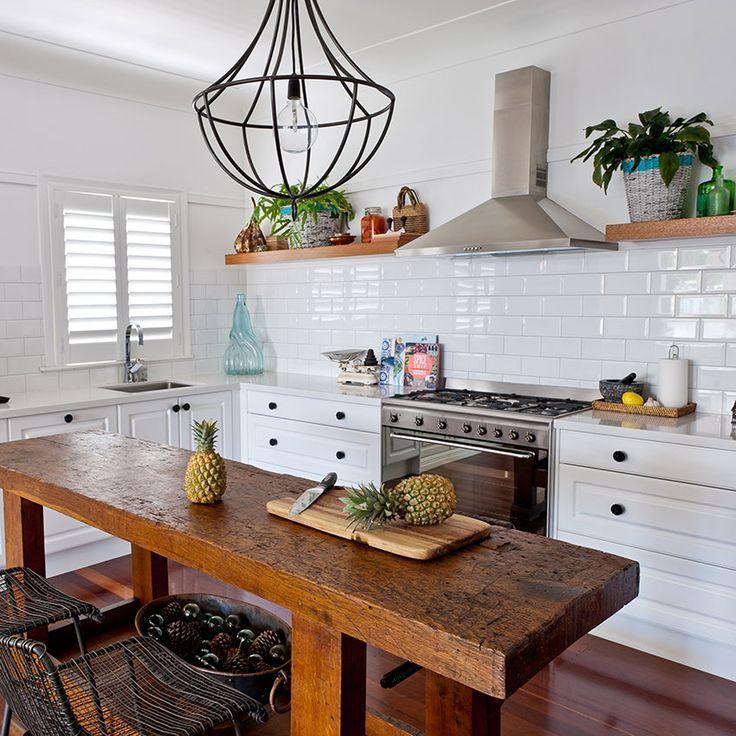narrow farmhouse table kitchen island | Dining Room Sets ...