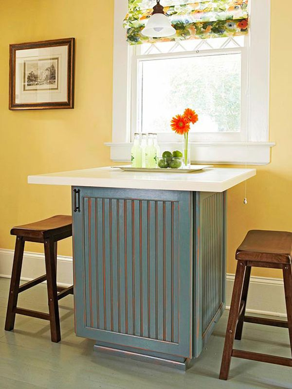 Table Ideas For Small Kitchens Part - 15: 48 Amazing Space-saving Small Kitchen Island Designs
