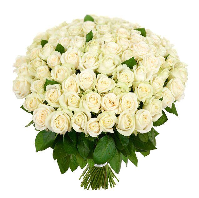 Роза - 60 см. (бел… - цветочные букеты на заказ FlowWow!