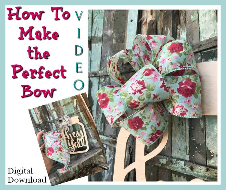 How to Make the Perfect Bow, Bow Tutorial, Bow Making Video, How to make a bow, Perfect Bow Tutorial, The best bow tutorial by BrookielynnsBungalow on Etsy