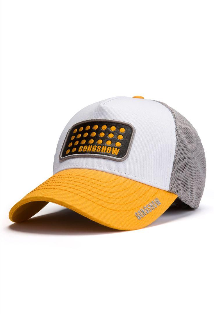 Big Blocker Yellow Goalie Hockey Hat   GONGSHOW Hockey Lifestyle Apparel