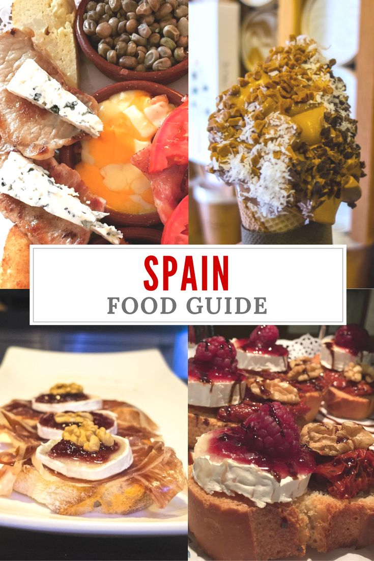 A Spain food guide for the foodies out there. Explore the cities of Madrid, Bilbao, Girona and Granada, discover the traditional Spanish food, tapas and more. | Spanish food recipes | Spanish food authentic | Spain traditional food - via @WanderTooth