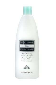 Dry hair? You will adore this conditioner. It's packed with beneficial ingredients like vitamin E and argan oil that add moisture to locks. Trader Joe's Nourish Spa Conditioner, $2.99, available at Trader Joe's locations. #refinery29 http://www.refinery29.com/best-generic-brands-beauty-products#slide-15
