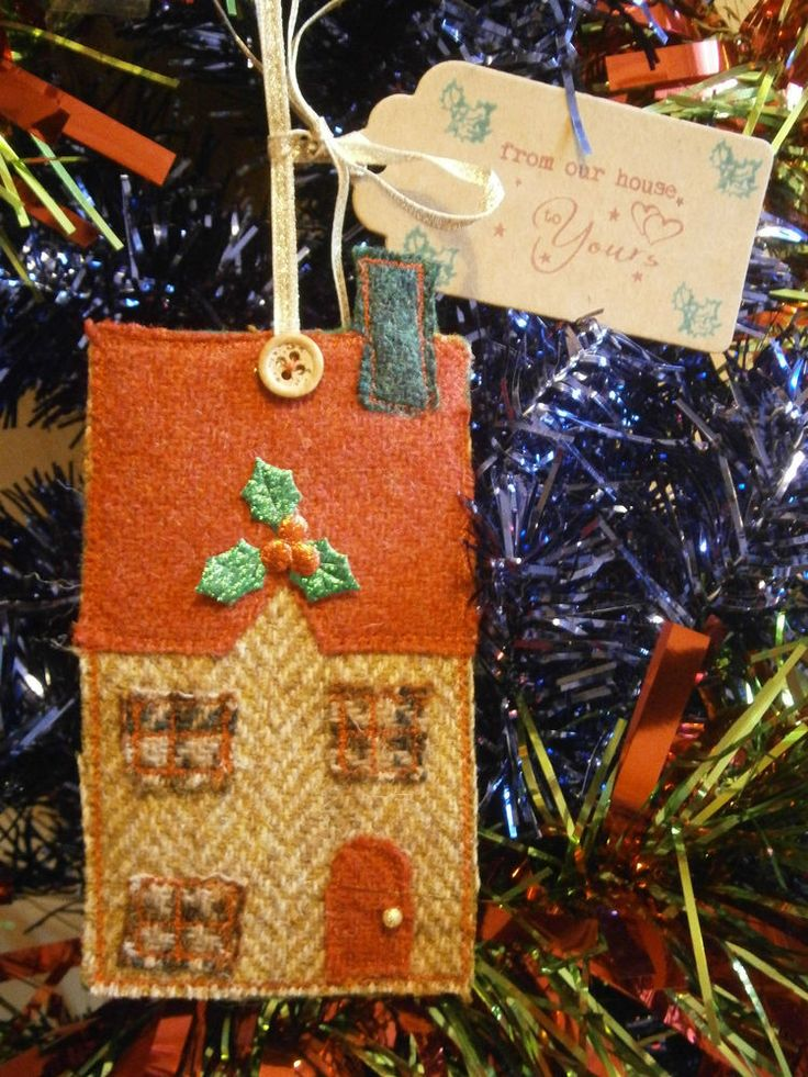 Delightful little Harris Tweed, Harris House Christmas Decoration Sewing Kit