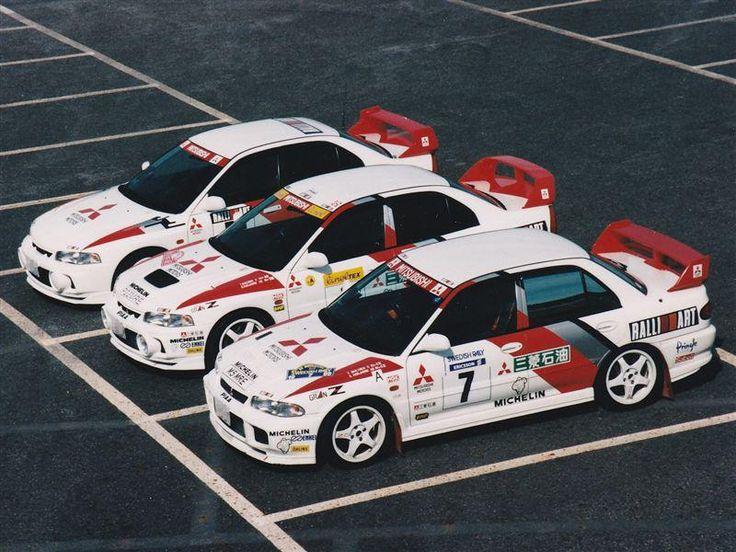 mitsubishi evo rally cars