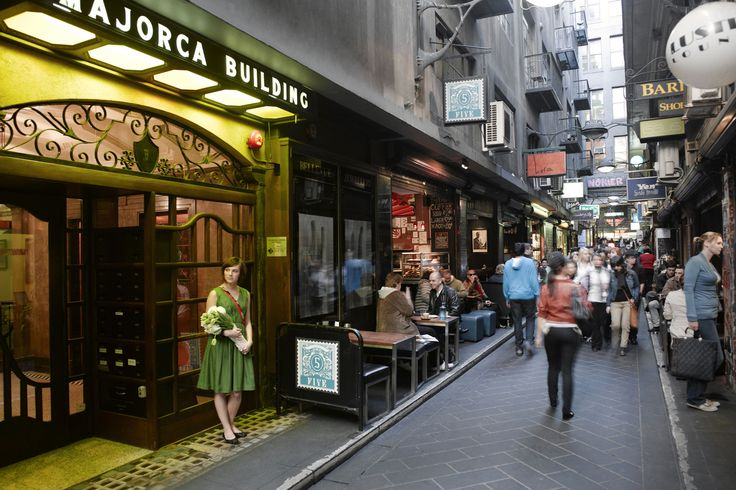 The surrounding laneways are packed with some of Melbourne's best cafes, pubs and restaurants.
