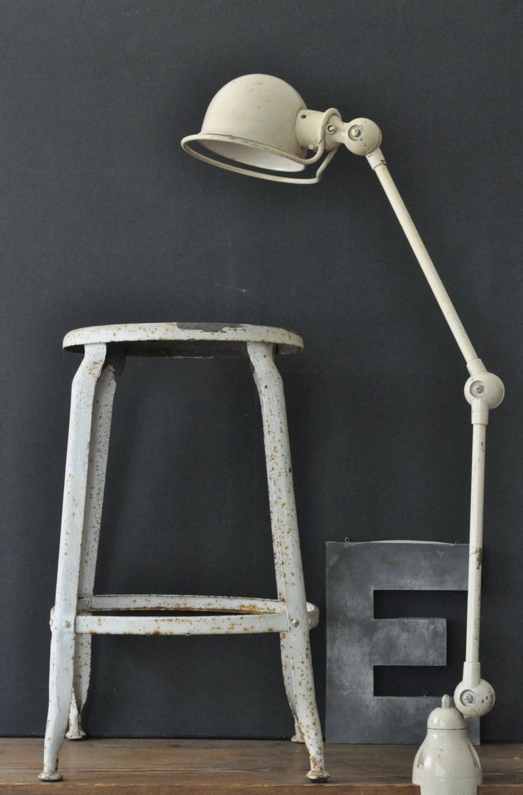 Pin french cafe style chair in red by ines cole on pinterest - Jielde Lamp 2 Arms And Nicolle Stool Laboutiquevintage