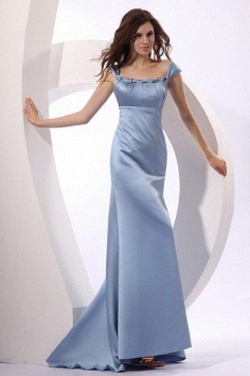 Blue Classic A-Line Prom Gown - Order Link: http://www.thebridalgowns.com/blue-classic-a-line-prom-gown-tbg6598 - SILHOUETTE: A-Line; SLEEVE: Short Sleeves; LENGTH: Sweep/Brush Train; FABRIC: Satin; EMBELLISHMENTS: Pleating - Price: 178USD