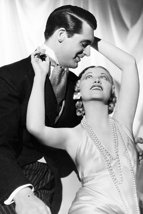 "missavagardner: "" Original Caption: 1934: Cary Grant and Genevieve Tobin…"