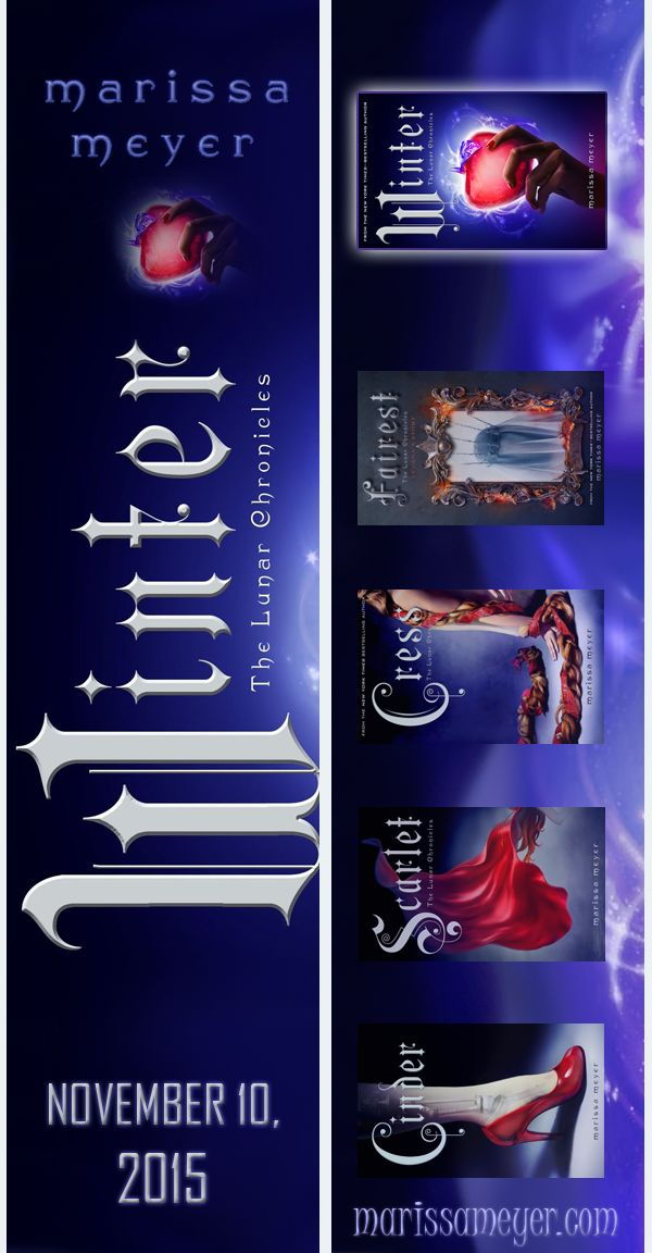 @marissa_meyer #TheLunarChronicles #WinterBookmark  My entry for the Design a Lunar Chronicles Bookmark Contest! :)