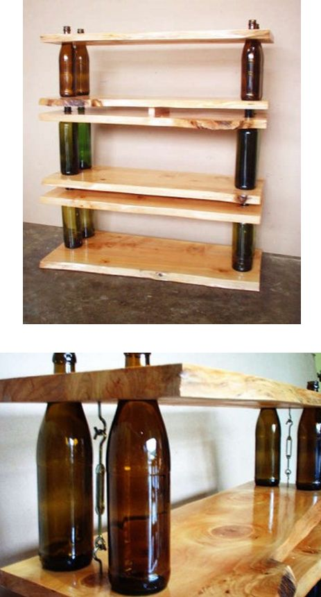 de botellas de vino en Pinterest  Lámparas de botellas, Botellas de
